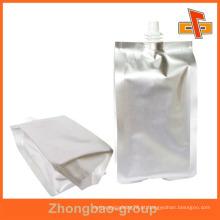 Stand up folha de alumínio vinho saco com bico para chá de limão 100ml 200ml