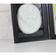 Wholesale Amazon hot sale custom Wood frame Baby one year old Memorial gift baby handprint kit frame for decoration