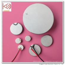 Pzt Sensor Ultrassônico Personalizado 20mm 3MHz Elemento Piezo Cerâmico