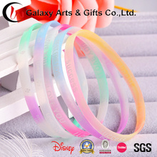 Glow Narrow Wristband / Glowing Silicone Rubber Bends / Soft Silicone Wristband
