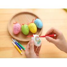 colorir o brinquedo plástico ovo de galinha crianças desenhando ovos de brinquedo