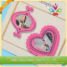 Mini Metall Fotorahmen für Paare/schöne rosa Fotorahmen