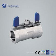Válvula de esfera 1PC do aço inoxidável com punho da asa