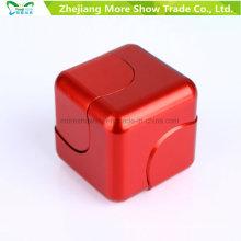 Jouets de Gyro de bout droit de doigt de doigt de cube en alliage en métal EDC Fidget Doigt