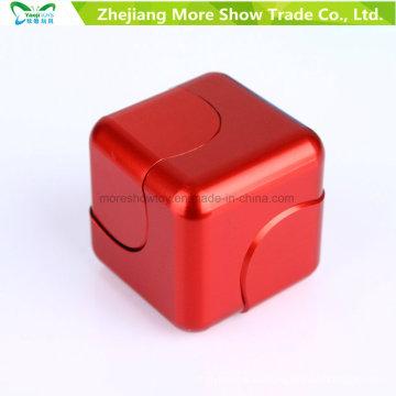 Aleación de metal Cube Dice EDC Fidget Finger Finger Spinner Fingertips Gyro Toys