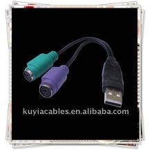 Câble USB2.0 à KVM, Nouveau Adaptateur USB à PS / 2 pour clavier de souris