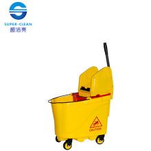 Down-Press Double Mop Wringer Trolley (B-046B)