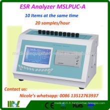 Équipement de laboratoire Équipement ESR Analyseur ESR Prix / Analyseur ESR dynamique sanguin MSLPUC-A