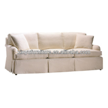 Leisure style white grid fabric living room sofa XY0954