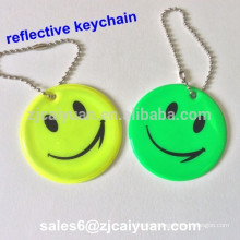 smilling face reflective keychain