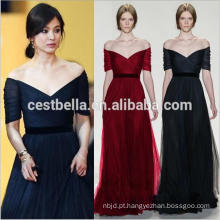 Off Shoulder Short Sleeve formal Long Maxi Evening Dress Evening Gown