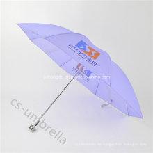 Günstige Licht lila Polyester Abdeckung 4 Falten Regenschirm (YS4F0004)