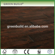 Distressed surface chocolate color birch engineered wooden flooring