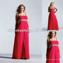 Spaghetti Sweetheart Chiffon With Jeweled Waistband Evening Dress 2012
