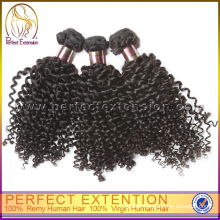 Afro Curling Ribbon Textured Hair Bows Virgin Mongolian Kinky Curly Hair
