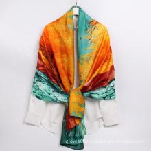 2021 New Fashion Elegant Lady Designer Scarf High Quality Smoothly Silk Feeling Scarves