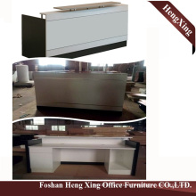 (HX-5N421) White Office Reception Counter Table Wooden MFC Office Furniture
