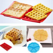 Nonstick Food Grade Rectángulo Forma Molde de silicona Waffle Mold