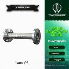 Flansch Typ 1 2 Zoll Edelstahl geflochtenes 30mm flexibles Metall Schlauchrohr