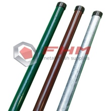 PVC Coated Galvanized Metal Round Post untuk Pagar