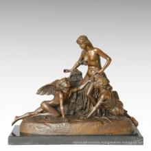 Mythology Figure Statue Angle Ladies Bronze Sculpture TPE-363