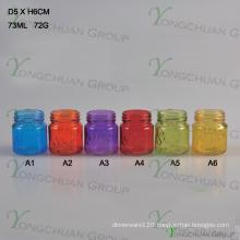 Manson Jar Mini Colour Style Glass Cock Mason Jar, Rooster Handle Glass Jar