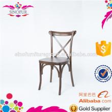 modern stacking wedding cross back wooden chair