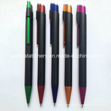 Pluma plástica promocional negra (P1021C)