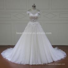 XF16020 fora mangas de ombro mangas de design turco elegante vestido de casamento nupcial