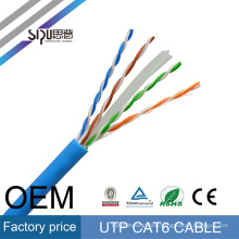 SIPU factory price cat6 network cable high quality 0.56 bare copper utp cat6 lan cable