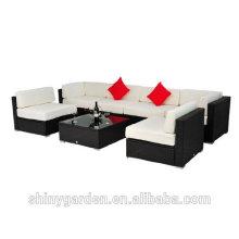 7pcs Outdoor Patio PE Rattan Wicker Sofa Sectional Furniture Set