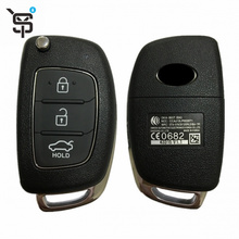 Top quality black car remote key 3 button smart car remote key for Hyundai with  433 MHZ YS100206