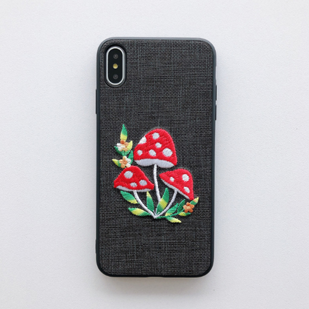 Cute Embroidery Phone Case
