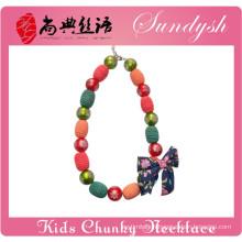 2014 Latest Handmade Chunky Beads Kids Necklace For Christmas