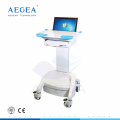 AG-WT005 más avanzado hospital médico emergencia altura ajustable ABS portátil estación de trabajo médica carro