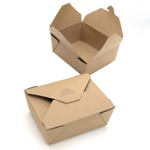 Fast Food Plain Packaging Corrugated Box 500x500