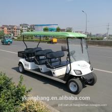 O carro de golfe 4kw elétrico com caixa da carga / boa qualidade 6 assenta o carro de golfe de serviço público com o pneu fora da estrada for sale