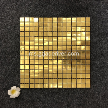 Tile Mosaic Glass Color Gold
