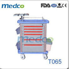 Luxurious abs hospital emergency medical trolley T065
