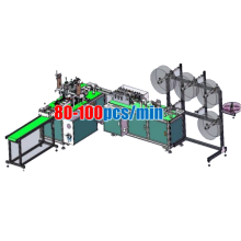 2020 1way mask machine 3 layer flat face mask making machine automatic price , non woven disposable face mask production line