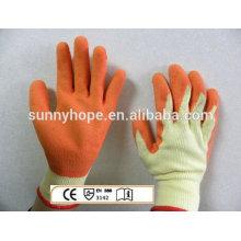 Sunnyhope Latex beschichtete Strickhandschuhe, Arbeitshandschuhe mit Oberflächenkratzer Arbeitshandschuhe