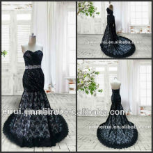 Elegant Charming Sweetheart Black Lace Beautiful Prom Dress Real Sample