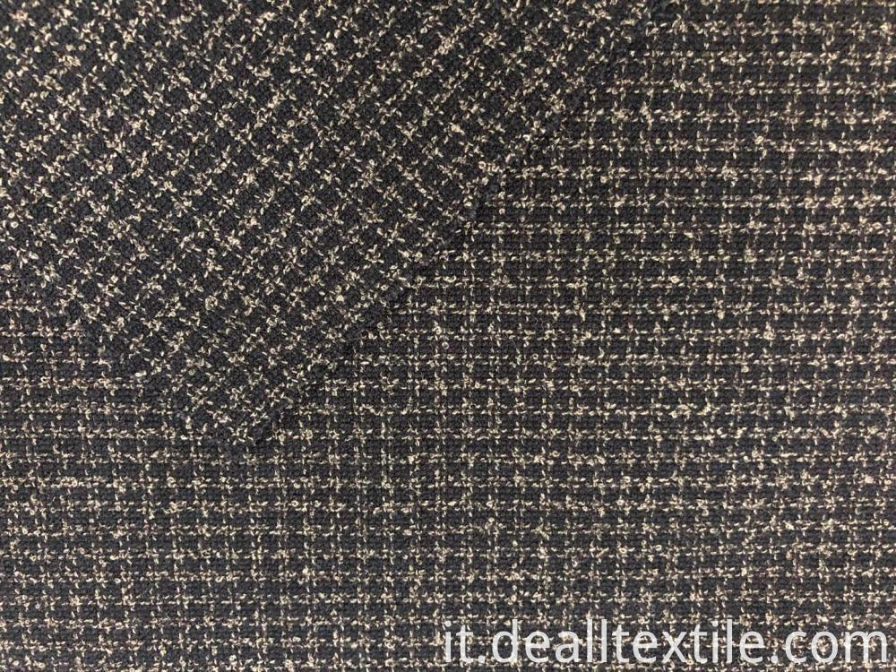 Plaid Polyester blended fabric