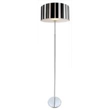 Moderne Torchiere Glasabdeckung Schwarz-Weiß-Linie Stoff Lampenschirm-Lampe