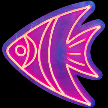 FISH INSEGNE AL NEON ILLUMINATE A LED