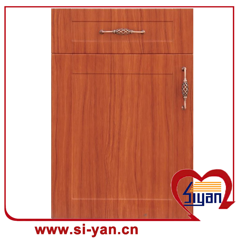 Decorative kitchen cabinet door plastic panels