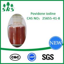 Povidona iodo Pó castanho-avermelhado CAS: 25655-41-8 PVP Top Grade