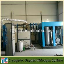 Sistema líquido de la planta criogénica del oxígeno