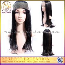 For Black Women Hot Sale Virgin Peruvian Lace Front Beauty Hair Wig