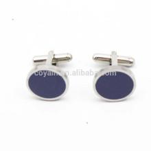 Kundenspezifischer runder Metallmanschettenknopf-Hemd-Knopf mit blauem Stein